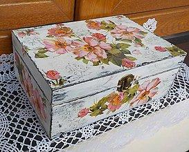 Krabičky - Šperkovnica polné ruže - 8541828_