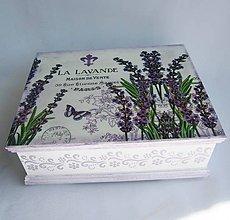 Krabičky - Drevená krabica - Lavanda - 8540174_