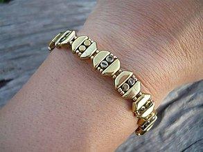 Náramky - Náramek Zlatá elegance - 8542981_
