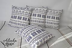 Úžitkový textil - Obliečka na vankúš čičmanský vzor 40*40cm - 8540532_