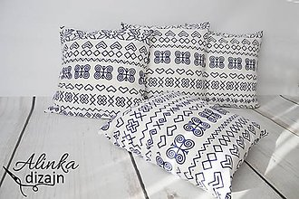 Úžitkový textil - Obliečka na vankúš čičmanský vzor 40*40cm - 8540533_