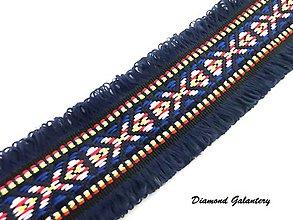 Galantéria - Ozdobná lemovka 40 mm - tmavo modrá - 8540555_