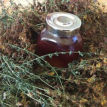 Suroviny - ľubovníkový jánsky olej - 8540280_