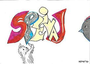 Detské doplnky - Pes, vták a graffiti -- dvojaké fixky - 8540546_