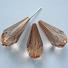 Korálky - Slza plast 24x11mm-1ks (sv.hnedá) - 8543168_