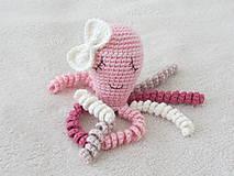Hračky - Háčkovaná chobotnička - 8541226_