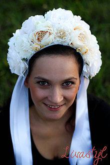 Ozdoby do vlasov - Svadobná parta - 8542684_