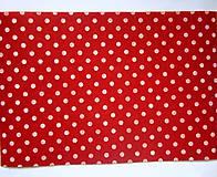 Textil - Filc bodkovaný - červený - 8542914_