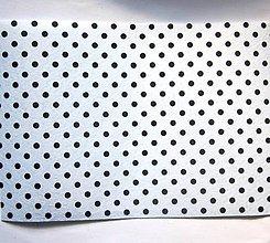 Textil - Filc bodkovaný - biely - 8542944_