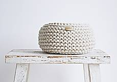 Pletený košík - režný