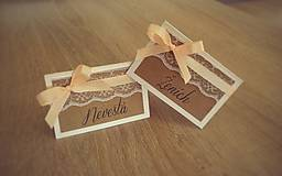 Papiernictvo - Svadobná menovka B - 8540879_