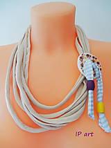 Náhrdelníky - Náhrdelník s porcelánovým gombíkom - 8540147_