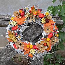 Dekorácie - Jesenný veniec - 8543076_