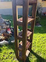 """Nábytok - Polička """"Slnko"""" so starého dreva 5-policová - 8541262_"""