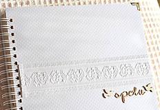 - Svadobný fotoalbum - s bielou krajkou - 8541012_