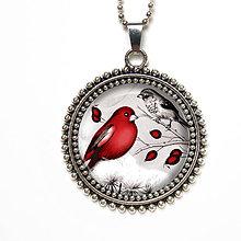 Náhrdelníky - Malí ptáčci - prívesok na na dlhom retiazke - 8540378_