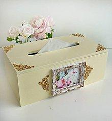 Krabičky - Vanilkový servítko-box - 8540615_