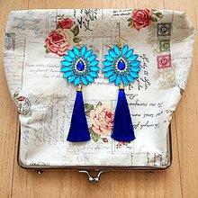 Náušnice - Krásny tyrkysovo-modré náušničky :) - 8541067_