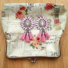 Náušnice - Krásne ružové náušničky - 8541086_