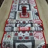 - Vianočný patchwork- stredový obrus 156x42 - 8540776_