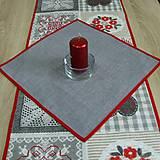 - Vianočný sivý k sade patchwork - obrus štvorec 42x42 - 8541277_