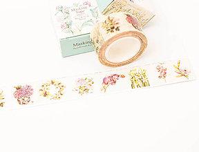 "Papier - WASHI / papierová páska na tvorenie "" floristic"" - 8541144_"