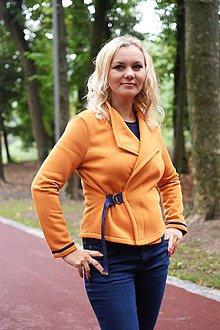 Kabáty - Krátke sako z teplákoviny - 8540187_