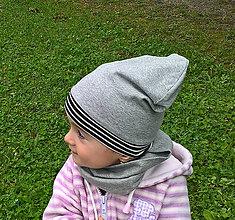 Detské čiapky - Dvojvrstvová šmolko čiapka - 8541018_