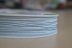 Galantéria - Šujtášová šnúrka baby modrá 3mm, 0.22€/meter - 8541310_
