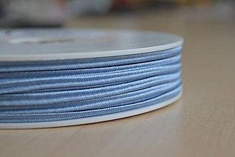 Galantéria - Šujtášová šnúrka svetlomodrá 3mm, 0.25€/meter - 8541331_
