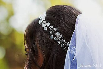 Ozdoby do vlasov - Perličková girlanda do účesu - 8540480_