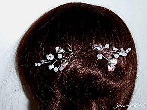 Ozdoby do vlasov - Vlásenky s korálkami - 8541943_