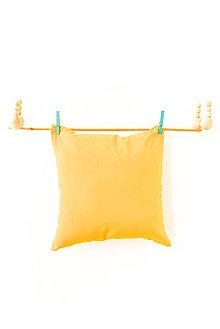 Úžitkový textil - Príjemné... žlté... vankúšiky... 35x35 cm - 8545724_