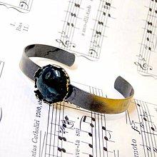 Náramky - Vintage Moss Agate Bracelet / Náramok s machovým achátom v bronzovom prevedení /0499 - 8546156_