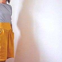 Sukne - ľanová sukňa hory.doly - 8543982_