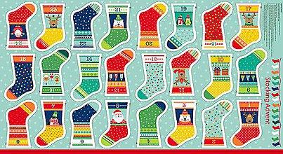 Dekorácie - Adventné ponožky - 8545403_
