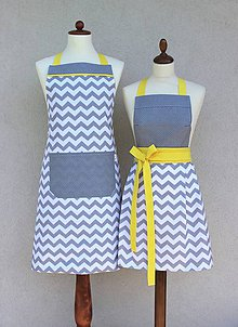 Iné oblečenie - set záster On+Ona cik-cak žltá - 8543654_