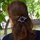 Vlasové doplnky- fialová francúzska spona