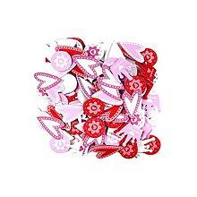 Papier - Nálepky penové 120ks - Srdiečka, koruny, kvetiny - 8546427_