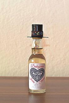 Darčeky pre svadobčanov - Folk mini fľaštičky - 8544745_