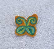 Odznaky/Brošne - ...plstená brošňa - motýľ... - 8543704_