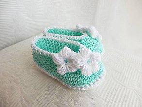 Topánočky - Mätové balerínky - 8545137_
