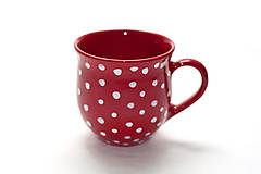 Nádoby - Červený hrnček - 8543837_