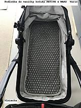 Textil - Podložka do vaničky Petite&Mars Vario 100% merino Hviezdička šedá sivá - 8544805_