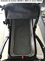 Textil - Podložka do vaničky Petite&Mars Vario 100% merino Hviezdička šedá sivá - 8544808_