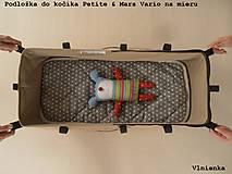 Textil - Podložka do vaničky Petite&Mars Vario 100% merino Hviezdička šedá sivá - 8544813_