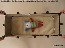 Textil - Podložka do vaničky Petite&Mars Vario 100% merino Hviezdička šedá sivá - 8544814_