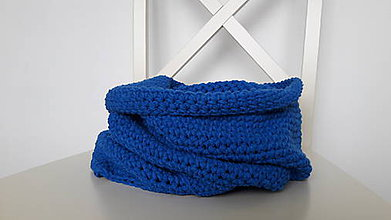 Šály - Nákrčník z parížskej modrej - 8543648_