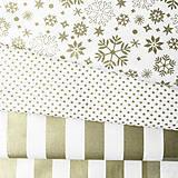 - slávnostná pásikavá 100 % bavlna so zlatotlačou, 50 x 140 cm - 8546072_