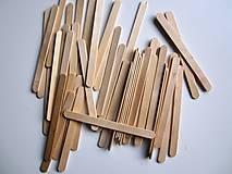 Polotovary - Drevené paličky 50 ks- nanukové - 8543380_